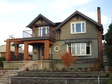 Exterior Paint Color Design: Craftsman Double Gable
