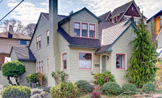 Exterior Paint Color Design: Sage With Dormer