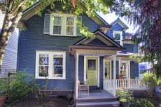 Exterior Paint Color Design: Double Entry Farmhouse