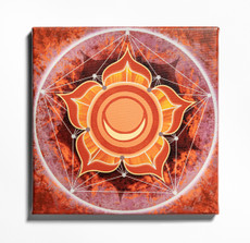 Color in Space Sacral Chakra Stretched Canvas Print in Benjamin Moore Paint Colors
