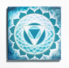 Throat Chakra Stretched Canvas Print