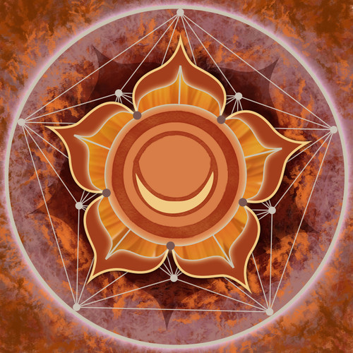 Color in Space Sacral/2nd Chakra Print