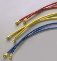 """Ritchie Yellow Jacket 21985 60"""" 3-Pak (RYB), Plus II Hoses with Std 1/4"""" Fittings"""