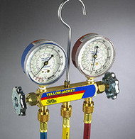 "Ritchie Yellow Jacket 42006 - Series 41 Manifold, 3-1/8"" Gauges w/Hoses, R22/134A/404A"