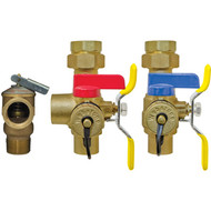 "Webstone Isolator / EXP Westinghouse Combi Boiler Heating Side 1"" Valve Kit With Pressure Relief Valve"