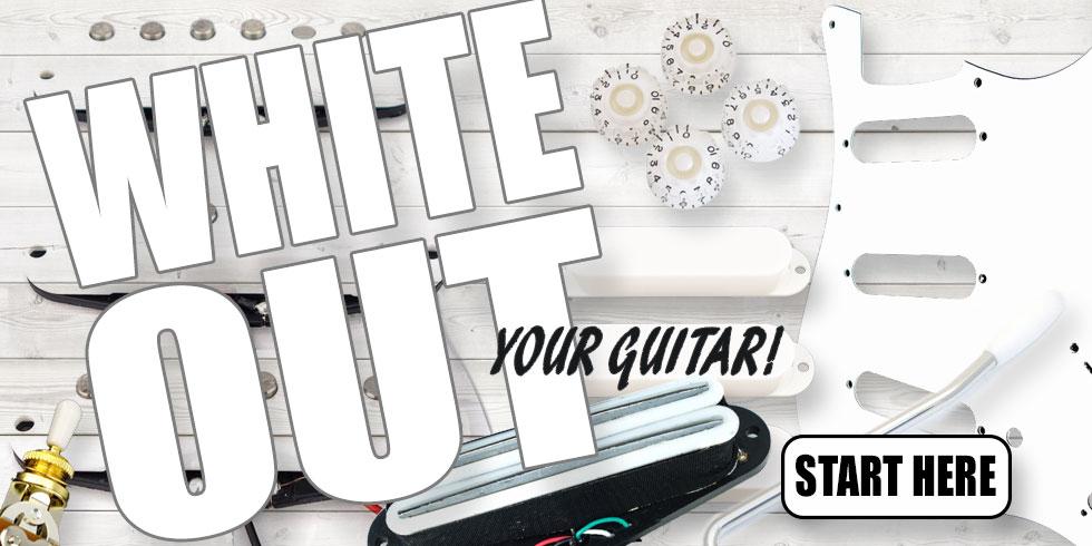 WHITE GUITAR PARTS