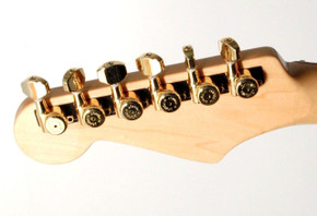 Hipshot 6-In-Line NON-Staggered Closed-Gear Locking Mini Tuners PEARLOID GOLD