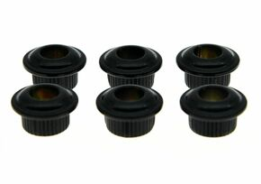 *NEW 10mm Conversion Bushings for Vintage Tuners Guitar Parts Set of 6 Black