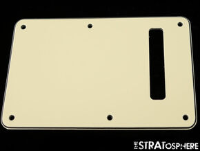 *NEW Vintage Cream TREMOLO BACK COVER for Fender Stratocaster Strat 3 Ply