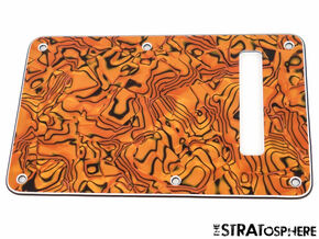*NEW Gold Abalone TREMOLO BACK COVER for Fender Stratocaster Strat Guitar 3 Ply
