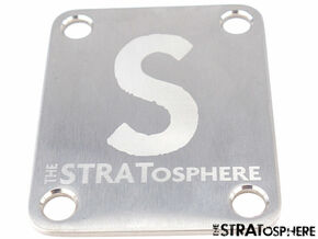 NEW STRATosphere Logo NECK PLATE for Fender Strat Tele Stainless STR-NP-SS-L