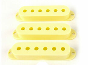~ Fender Pure Vintage Stratocaster PICKUP COVERS from USA 59 Strat Vintage White