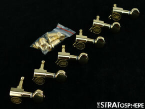 *NEW Wilkinson 6 In Line TUNERS 15:1 Ratio Mini Pegs Gold WJ05-GD *MODERN POST*