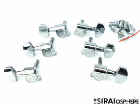 *NEW Wilkinson 3x3 TUNERS Tuning Pegs 15:1 Ratio Chrome WJ01-CR *MODERN POST*