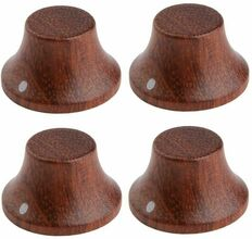 *NEW Set of 4 Wood Bell CONTROL KNOBS for Gibson Les Paul Strat Push On Bubinga