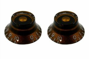 NEW Chocolate Vintage Bell CONTROL KNOBS for Guitars Set of 2 PK-0140-036