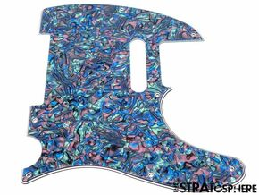 *NEW Abalone Pearl Telecaster PICKGUARD for Fender USA Vintage Tele 3 Ply 8 Hole