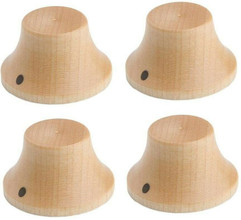 *NEW Set of 4 Wood Bell CONTROL KNOBS for Gibson Les Paul Strat Push On Maple