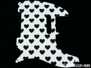 *NEW Telecaster PICKGUARD for Fender USA Vintage Tele 5 Hole Hearts Print