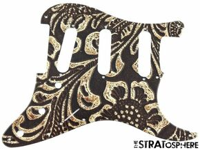 *NEW Stratocaster PICKGUARD for Fender Strat Guitar 11 Hole Tooled Leather Print