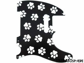 *NEW Telecaster PICKGUARD for Fender USA Standard Tele 8 Hole Paws Print
