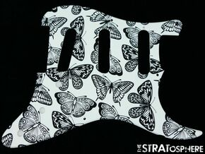 *NEW Stratocaster PICKGUARD for Fender Strat Standard 11 Hole Butterfly Print