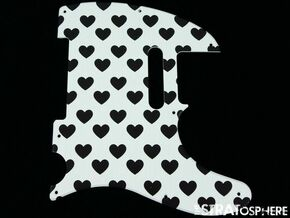 *NEW Telecaster PICKGUARD for Fender USA Standard Tele 8 Hole Hearts Print
