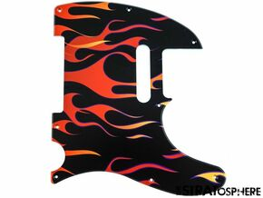 *NEW Telecaster PICKGUARD for Fender USA Standard Tele 8 Hole Flames Print