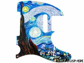 *NEW Telecaster PICKGUARD for Fender USA Vintage Tele 5 Hole Starry Night Print