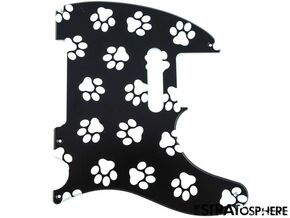 *NEW Telecaster PICKGUARD for Fender USA Vintage Tele 5 Hole Paws Print