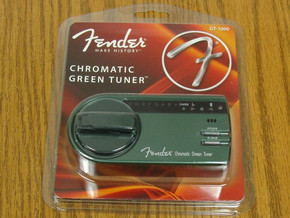 FOR REPAIR Fender Green Chromatic TUNER Electric Guitar Bass 50% OFF