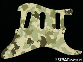 * NEW Stratocaster PICKGUARD for Fender Vintage Strat 8 Hole Green Camo Print