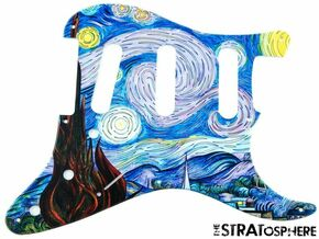 * NEW Stratocaster PICKGUARD for Fender Vintage Strat 8 Hole Starry Night Print