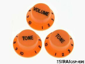 *NEW CONTROL KNOBS for Fender Standard Stratocaster Strat Guitar Parts Orange