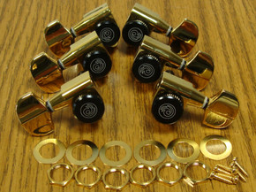 NEW Planet Waves Auto Trim Locking GOLD TUNERS 3x3 18:1 Guitar Tuning Pegs