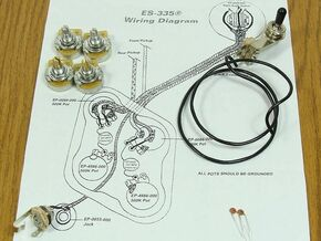 NEW ES-335 Pots Switch & Wiring Kit for Gibson Guitar EP-4147-000