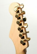 NEW Hipshot Grip-Lock Staggered Closed LOCKING TUNERS 6InLine Gold 6K1EL0G-STAG
