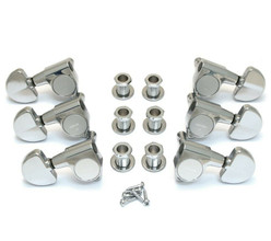 NEW Gotoh 3x3 Vintage TUNERS Full Size Grover Style Chrome Guitar TK-7740-010