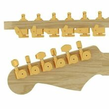 NEW Hipshot for Fender GripLock Staggered LOCKING TUNERS Gold 6K1FEL0G-STAG