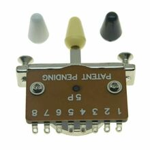 *NEW 5 Way Heavy Duty Selector SWITCH for Fender Strat & Tele w/ 3 Color Tips