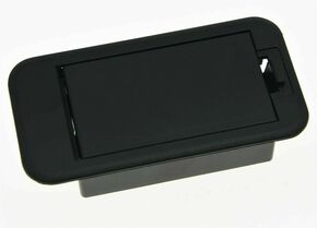 *NEW Battery Cover Box Case Compartment for Active Guitar & Bass Parts Black