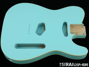 NEW Replacement BODY for Fender Telecaster Tele, Poplar, Double Bound Sonic Blue
