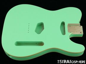 NEW Replacement BODY for Fender Telecaster Tele, Poplar, Double Bound Surf Green