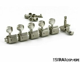 NEW Kluson Traditional NICKEL 6InLine TUNERS Double for Fender Strat KD-6B-NMDR