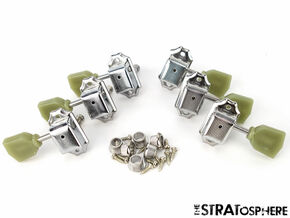 *NEW Vintage Style 3x3 TUNERS for Guitar Gibson Les Paul SG Aged Keystone Chrome