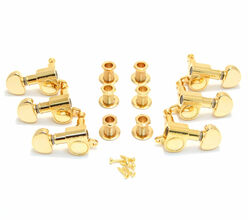 NEW Grover Mini Rotomatic GOLD TUNERS 3x3 for Gibson Les Paul Tuning Pegs