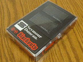 NEW Seymour Duncan AHB-1s Blackouts Active Humbucker PICKUP SET Black
