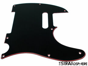 *NEW Telecaster PICKGUARD for Fender USA Standard Tele 8 Hole BLACK/RED/BLACK
