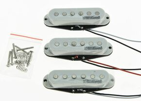 * NEW Wilkinson for Fender Stratocaster PICKUP SET Strat Pickups WOVS, White Covers