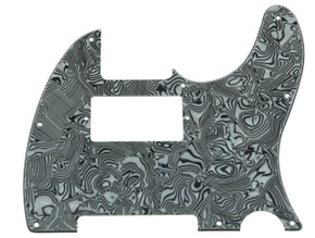 *NEW Blk/Wht Abalone HUMBUCKER Telecaster PICKGUARD for USA Fender Tele 8 Hole
